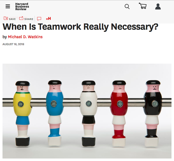 When is Teamwork Really Necessary?